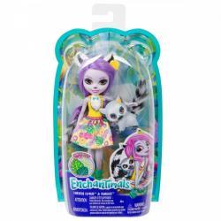Mattel Lalka Enchantimals Larisa Lemur + zwierzątko Ringlet