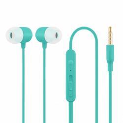 Słuchawki z mikrofonem douszne niebieskie HE21B