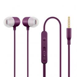 Słuchawki z mikrofonem HE21P douszne fioletowe
