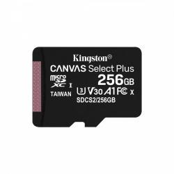 Kingston Karta pamięci microSD 256GB Canvas Select Plus 100/85MB/s Adapter