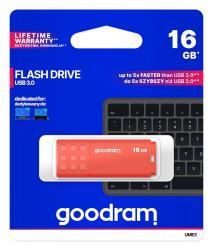 Pendrive UME3 16GB USB 3.0 Pomarańczowy