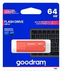 Pendrive UME3 64GB USB 3.0 Pomarańczowy