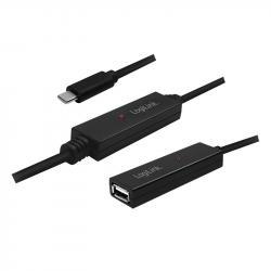 Aktywny repeater USB 2.0 A żeński do USB-C męski, dł. 20m