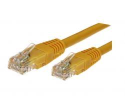 Kabel Patchcord kat.6A RJ45 UTP 1m. żółty