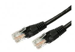 Kabel Patchcord kat.6 RJ45 UTP 1,5m. czarny