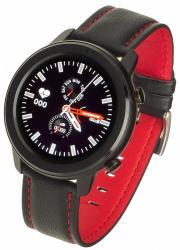 Smartwatch Men 5S Czarno-czerwony Skórzany