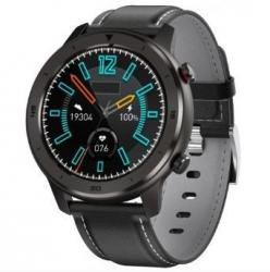 Smartwatch Men 5S czarno-szary skórzany