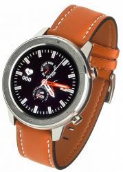 Smartwatch Men 5S brązowy Skórzany