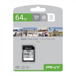 Karta pamięci MicroSDXC Elite 64GB P-SDUX64U185GW-GE