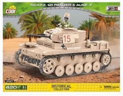 Cobi Klocki Klocki 420 elementów Sd.Kfz.121 Panzer II Ausf. F - niemiecki czołg lekki