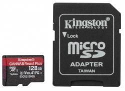 Karta pamięci microSD 128GB React Plus 285/165MB/s czytnik+adapter