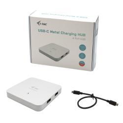 HUB 4x USB 3.0 + Power Delivery 60W USB-C Metal Charging