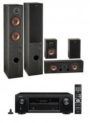 Kino domowe: Amplituner Denon AVR-S650H + Głośniki Eltax Exposure czarny