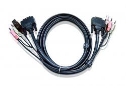 Kabel USB DVI-D Dual Link KVM 2L-7D02UD