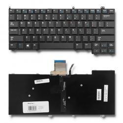 QOLTEC Keyboard for Dell Latitude E7240 E7440 Backlight