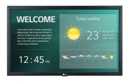 Monitor wielkoformatowy 22SM3G 250cd/m2 16/7