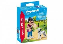 Playmobil Figurka Mama z dzieckiem i psem