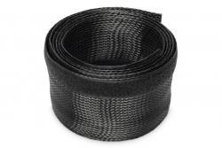 Maskownica taśmowa do okablowania na rzepy elastyczna regulowana 2m czarna