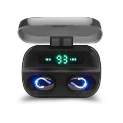 Słuchawki bezprzewodowe Bluetooth Savio TWS-06 BT 5.0 z mikrofonem, powerbankiem i led