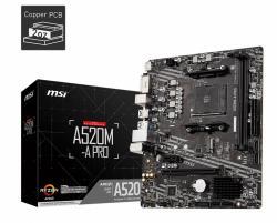 Płyta główna A520M-A PRO AM4 2DDR4 DVI/HDMI USB 3.2 mATX