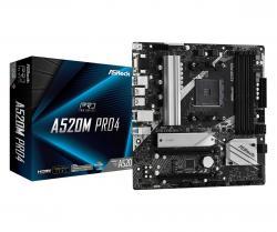 Płyta główna A520M Pro4 AM4 4DDR4 HDMI/DP/VGA M.2 mATX