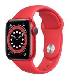 Apple Zegarek Series 6 GPS, 40mm koperta z aluminium z edycji (PRODUCT)RED z paskiem sportowym z edycji (PRODUCT)RED - Regular