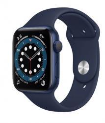 Apple Zegarek Series 6 GPS, 44mm koperta z aluminium w kolorze niebieskim z paskiem sportowym w kolorze głębokiego granatu - Regular