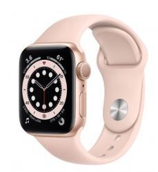 Apple Zegarek Series 6 GPS, 40mm koperta z aluminium w kolorze złotym z paskiem sportowym w kolorze piaskowego różu - Regular