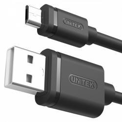 Kabel USB - microUSB 2.0, 2M, M/M; Y-C455GBK