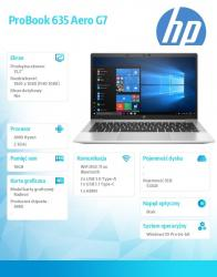 Notebook 635 AeroG7 R5-4650U 512/16/W10P/13,3 2E9F5EA