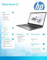 Laptop ZBook Power G7 W10P i9-10885H/1TB/32 1J3Q8EA