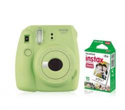 Aparat Instax Mini 9 zielony + wkład 10 sztuk zdjęć