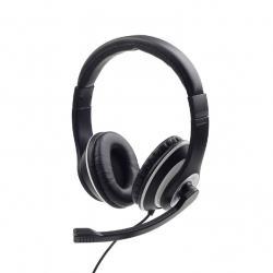 Słuchawki nauszne z mikrofonem MHS-03-BKWT czarne