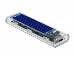 Obudowa zewnętrzna dla M.2 NVME PCIe SSD z USB Type-C żeńskim Przezroczysta