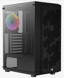 Obudowa Hive FRGB TG USB 3.0 Mid Tower Black