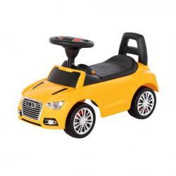 Jeździk samochód z sygnałem. Żółty