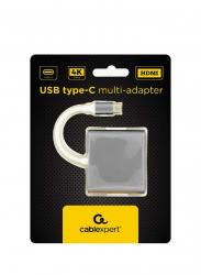 Adapter USB typ C szary
