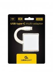 Adapter USB typ C srebrny