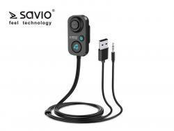 Odbiornik/adapter Bluetooth 5.1 transmiter AUX Jack 3,5 Savio TR-13