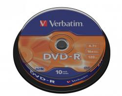 Verbatim DVD-R 16x 4.7GB 10P CB 43523
