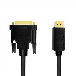 Kabel DisplayPort 1.2 do DVI 5m Czarny
