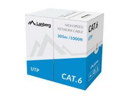 Kabel UTP Kat.6 CCA305m drut LCU6-13CC-0305-S
