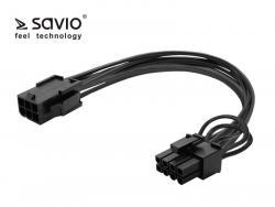 SAVIO AK-49 Kabel zasilający 6 pin F - PCI Express 8 pin M