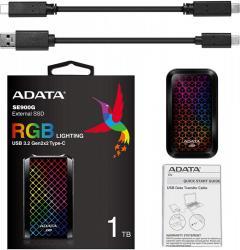 Adata Dysk SSD External SE900 1TB USB3.2-A/C RGB