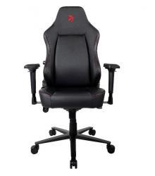 Fotel dla graczy Primo PU Czarny Czerwone Logo