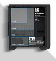 Obudowa S2 ATX Mid Tower PC Case 120mm fan