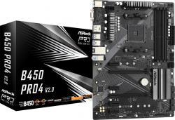 Płyta główna B450 PRO4 R2.0 AM4 4DDR4 DP/HDMI M.2 USB3.2 ATX