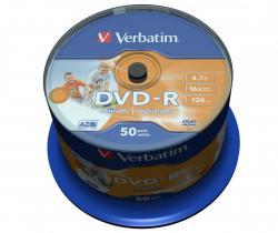DVD-R 16x 4.7GB 50P CB PRINTABLE 43533
