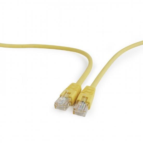Patch cord kat.5e osłonka zalewana 0.5M żółty