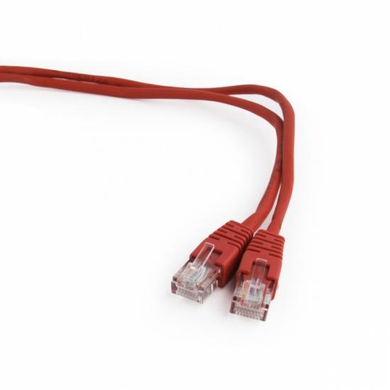 Patch cord kat.5e osłonka zalewana 1M czerwony